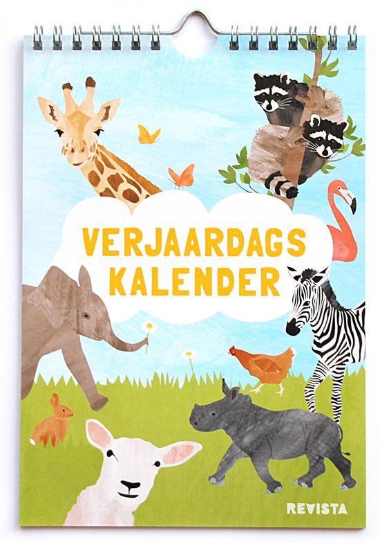 Verjaardagskalender A5 met dieren