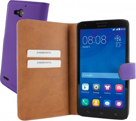Mobiparts Premium Wallet Case Huawei Ascend G750 Purple in Rollecate
