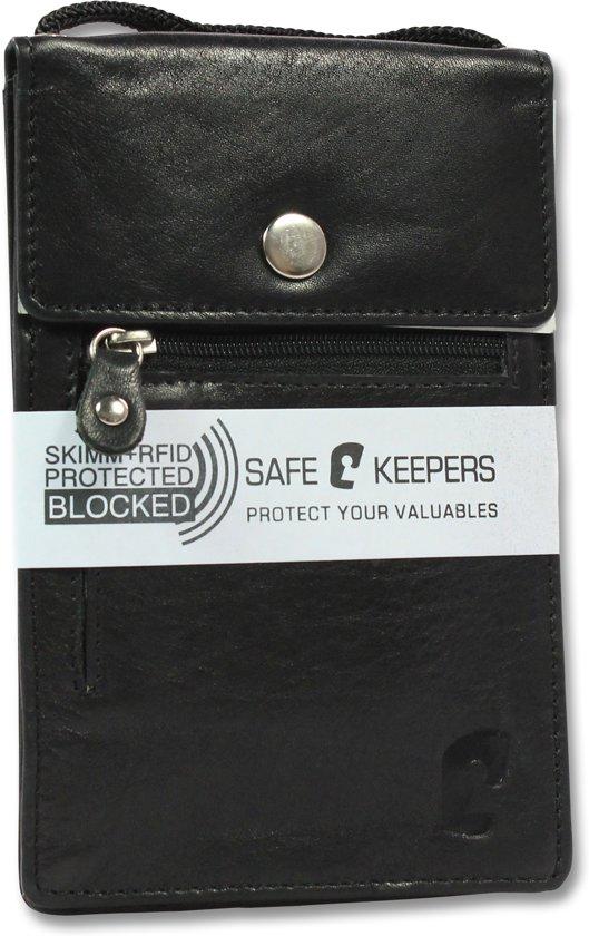 59c8b719847 ... Safekeepers Leren Nektas - Etui - Nektasje Paspoort Reis - RFID -  safekeepers ...