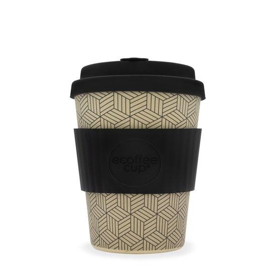 Ecoffee Cup Bonfrer - Bamboe Beker - 340 ml - met Zwart Siliconen