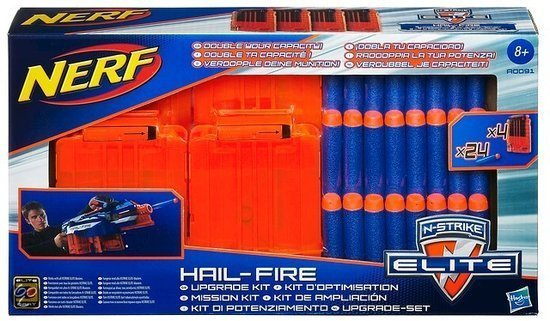 NERF N-Strike Elite Hail-Fire Mission Kit - Pijltjes
