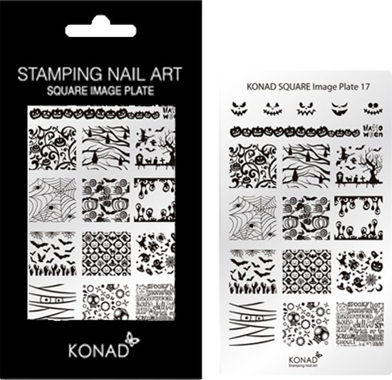 Bol Konad Square Image Plate 17 Met 17 Stamping Nail Art