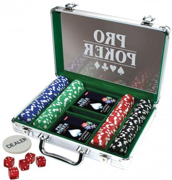 Pro Poker Case met 200 Chips van 11.5 Gram