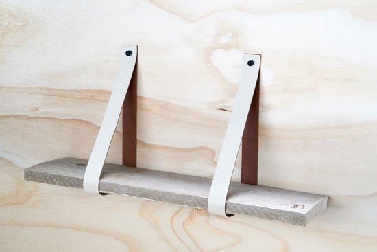 Plank 90 Cm.Bol Com Leren Plankdragers Creme Inclusief Plank 90cm