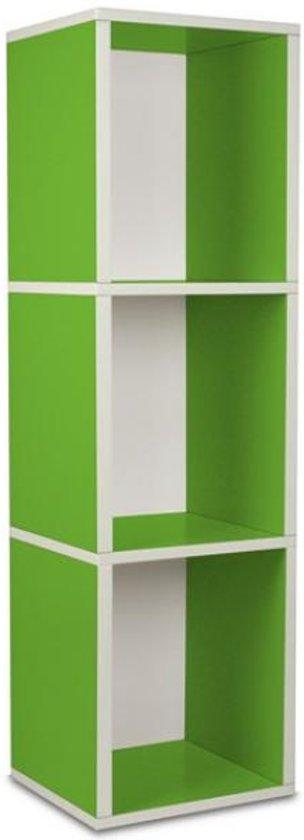 way Basics Cube plus3 - Boekenkast - groen