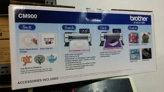 BROTHER SCANNCUT CM900 & GRATIS USB STICK ter waarde van 70 euro (met 50 unieke bestanden) & GRATIS de aller Nieuwste CANVAS SOFTWARE en 2 JAAR GARANTIE
