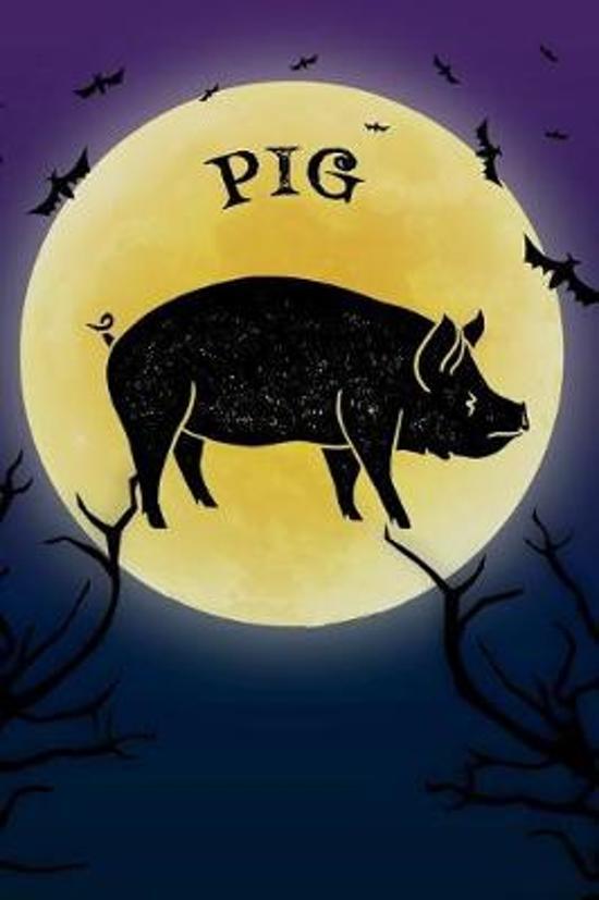 Pig Notebook Halloween Journal