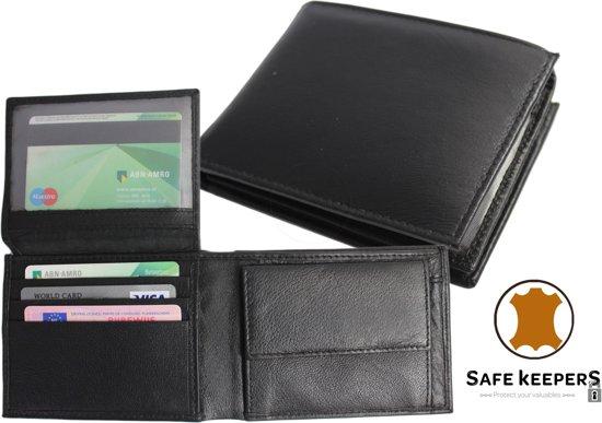 789e3b278da Zwart leren Portemonnee voor Heren – Billfold – Man – twee Briefgeld vakken  - art.