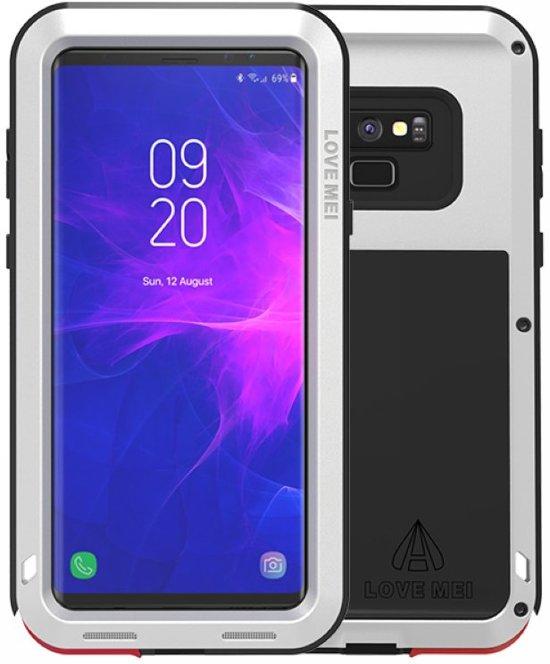 Metalen hoes voor Samsung Galaxy Note 9, Love Mei, metalen extreme protection case, zwart-grijs