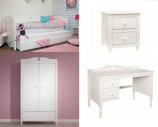 1 Deurs Kast : Bol.com lilli furniture emma tienerkamer zetelbed met