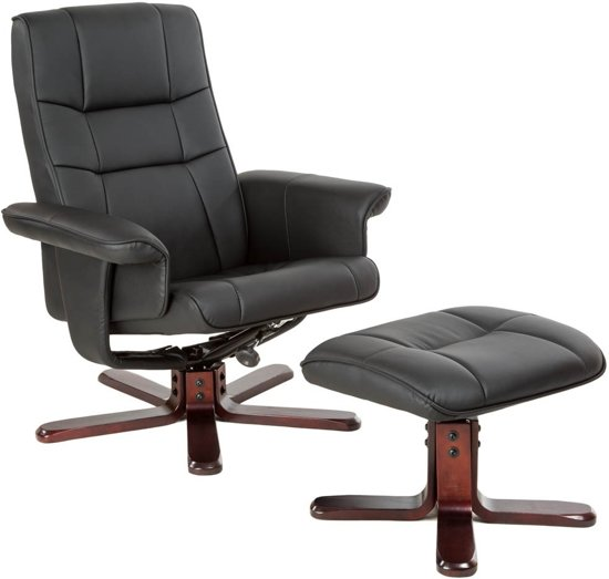 Tv fauteuil relax stoel relaxstoel met kruk for Relax stoel
