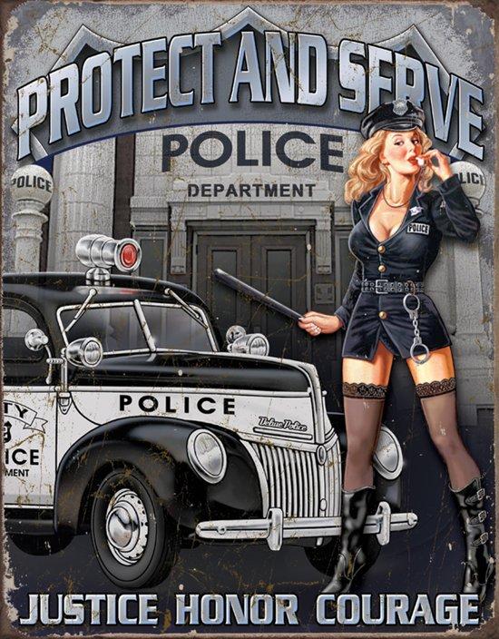 Signs-USA Police Department - Retro Wandbord - Metaal - 30x40 cm