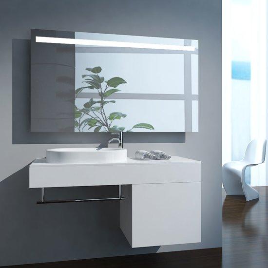 Badkamerspiegel fiona 160x80cm geintegreerde led for Led verlichting spiegelkast badkamer