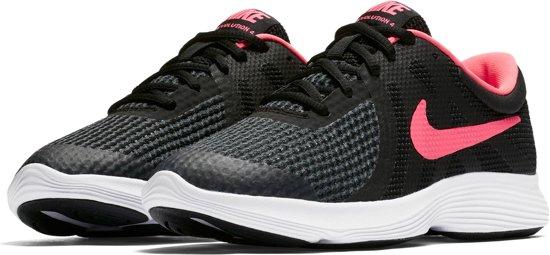 Nike Revolution 4 (GS) Sneakers - Maat 37.5 - Unisex - zwart/roze