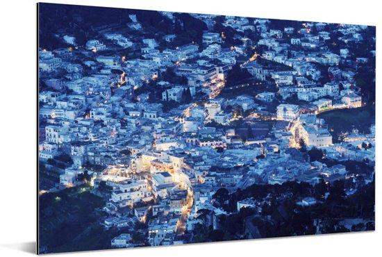 Afbeelding van Capri in de avond Aluminium 90x60 cm - Foto print op Aluminium (metaal wanddecoratie)