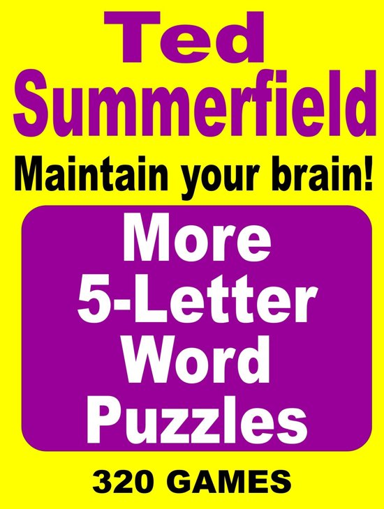 Bol More 5 Letter Word Puzzles Ebook Ted Summerfield
