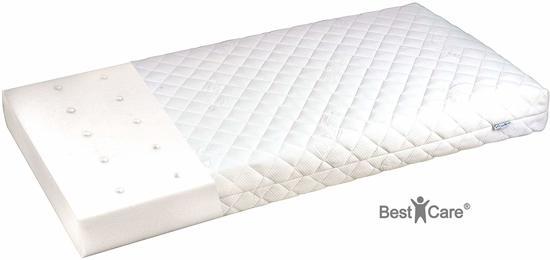 BestCare 2-zijdig (zomer / winter) Aero kindermatras, kinderwagenmatras, matras met aloë vera, matras voor kinderen, wiegmatras, voor een koeler en aangenaam  slaapgevoel in elk seizoen, Maat: 140x70