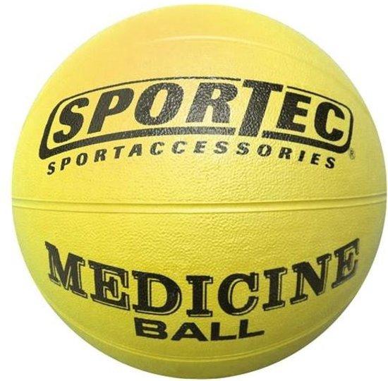 Sportec Medicine Bal Rubber 1 Kg Geel