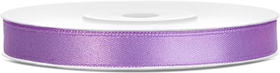 Satijn lint lavendel 6mm/rol 25m