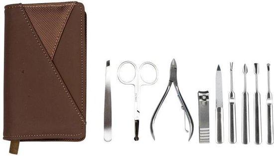 Manicure - en pedicure set in etui (10 delig)-