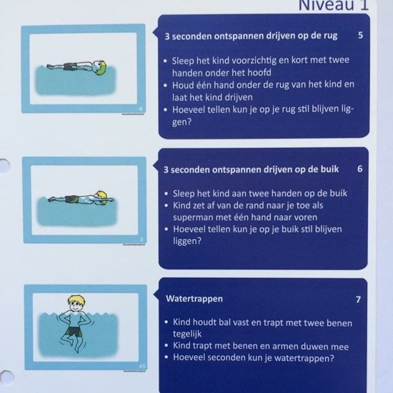 Zwemstuurkaarten - Handleiding Ouder en Kind Leren Zwemmen