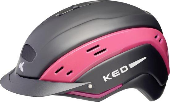 KED Cocon II L black matt pink helm met hoofdomtrek: 58-62 cm