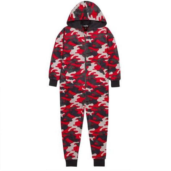 3f2573e744d bol.com | Camouflage onesie - maat 122/128 - rood