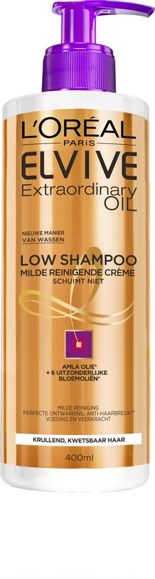 L'Oréal Paris Elvive Extraordinary Oil Krulverzorging - 400ml - Low Shampoo