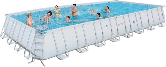 bol.com | Bestway power steel rectangular frame pool 956x488x132