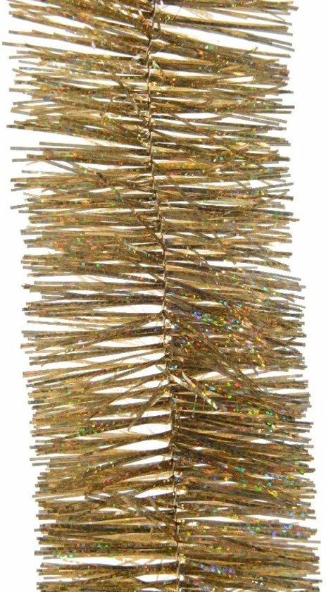 Kerstboom folie slinger goud 270 cm - gouden kerstslingers Valentinaa