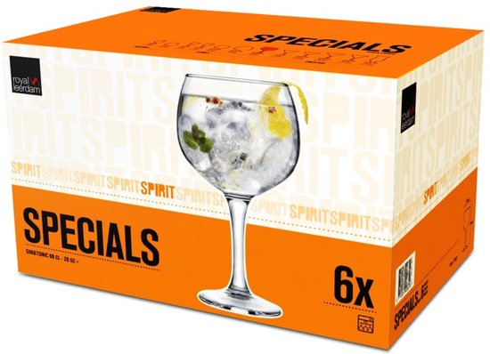 Royal Leerdam Specials Gin & Tonic Cocktailglas - 60 cl - 6 Stuks