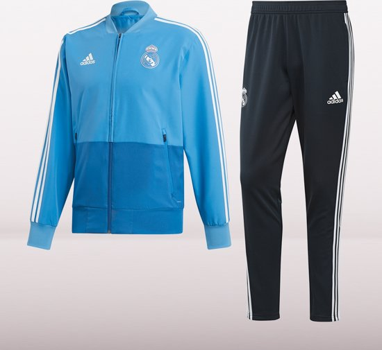 Adidas Real Madrid Trainingspak 2019 Heren - Blauw - Maat M