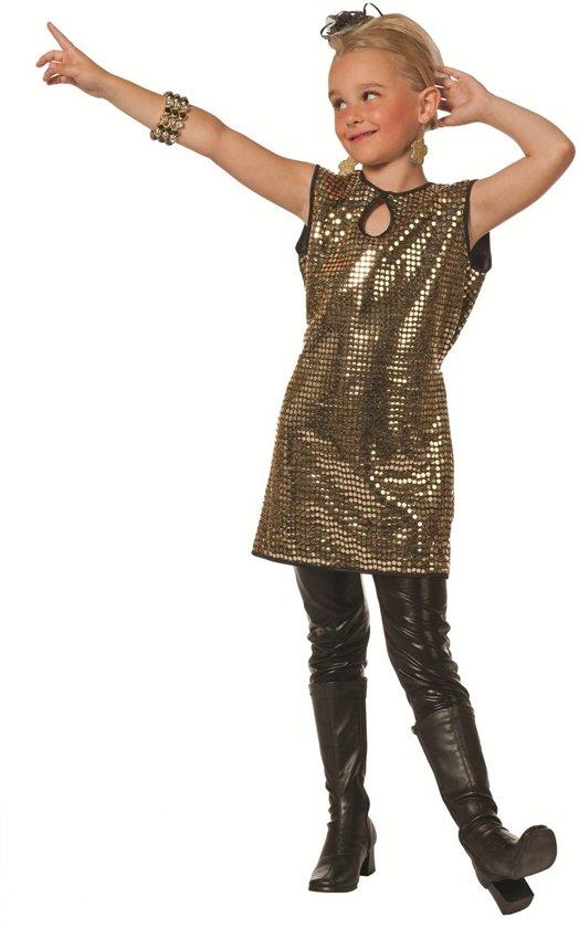 81b0f1426bb703 Gala kleedje meisje met gouden pailletten Maat 116