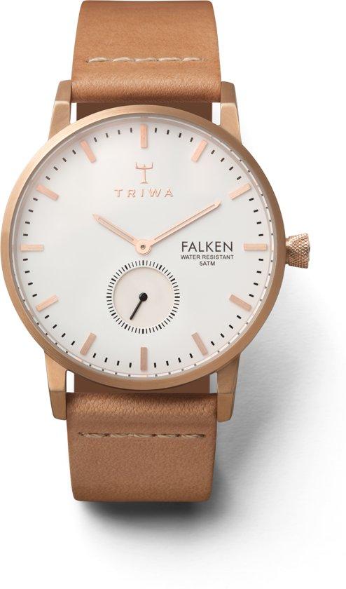 Triwa Rose Falken Tan Classic FAST101CL010614 - Horloge - Heren - Bruin - Ø 38 mm