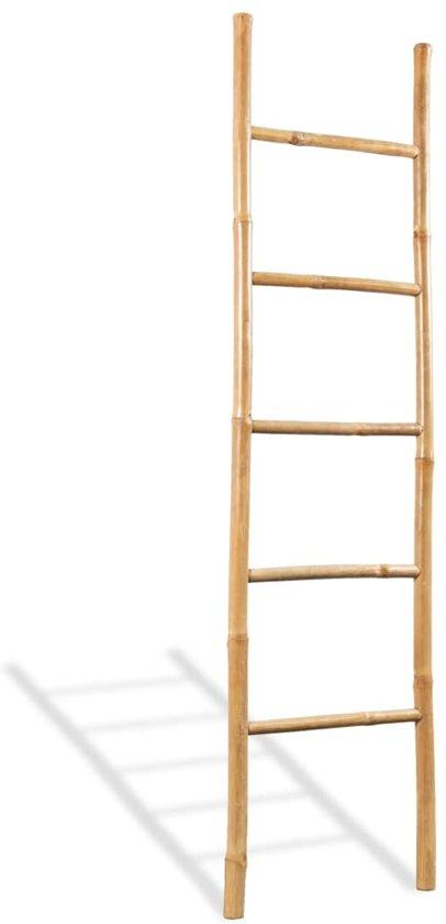 Bamboe Handdoek Ladder.Handdoekladder Met 5 Sporten 150 Cm Bamboe