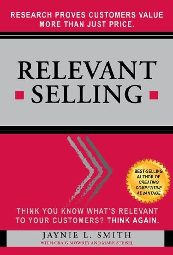 Relevant Selling: Research Proves Customers Value More Than Just Price