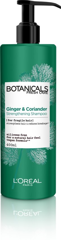 L'Oréal Paris Botanicals Coriander Strength Source Shampoo - 400 ml - Kwestbaar Haar