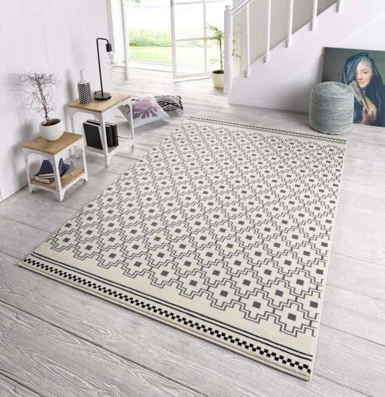 Design vloerkleed Cubic - crème/grijs 140x200 cm