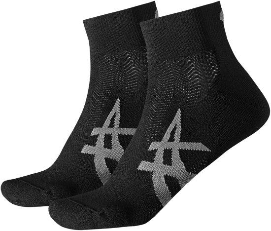 Asics Sportsokken - Maat 43-46 - Unisex - zwart/grijs