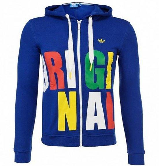 8113f3bcec4 bol.com | Adidas Originals Vest Met Capuchon Dames Blauw Maat 36
