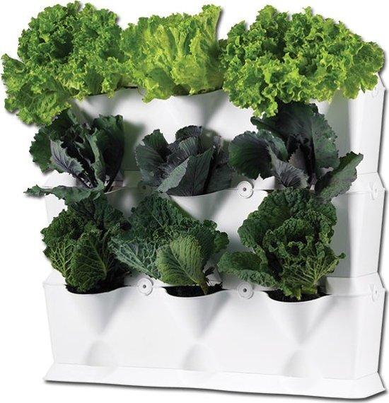 Minigarden® Vertical - Basis Set Verticaal voor verticale tuin - geschikt voor max. 9 planten - WIT
