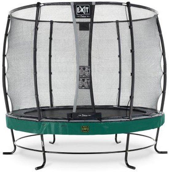 EXIT Elegant Premium trampoline ø305cm met veiligheidsnet Economy - groen
