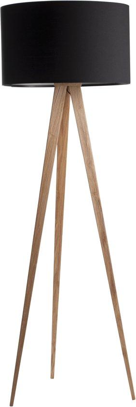 zuiver tripod wood vloerlamp zwart. Black Bedroom Furniture Sets. Home Design Ideas