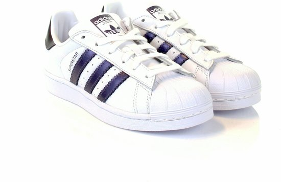 cba4f96c24f bol.com | adidas Superstar Sneakers Dames - White/Purple - Maat 36