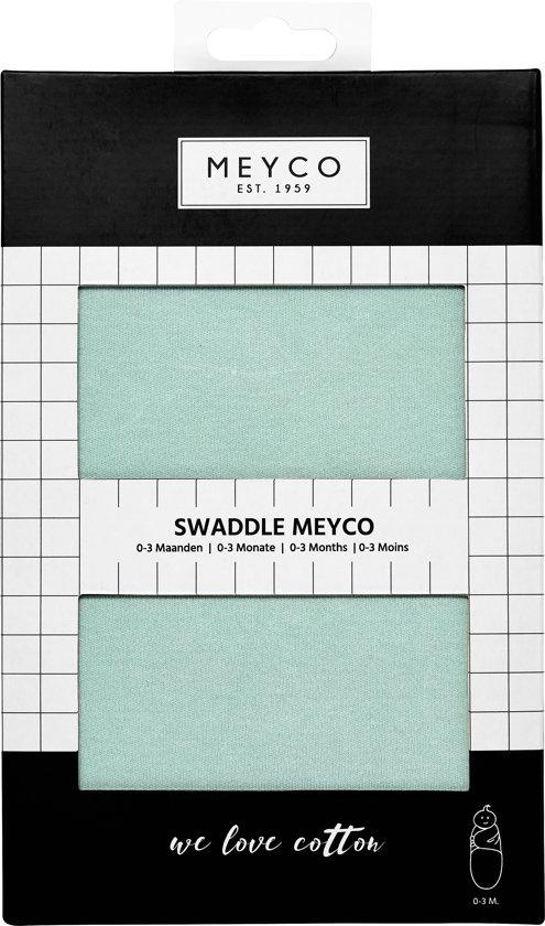 SwaddleMeyco Inbakerdoek - 0-3 maanden - uni new mint