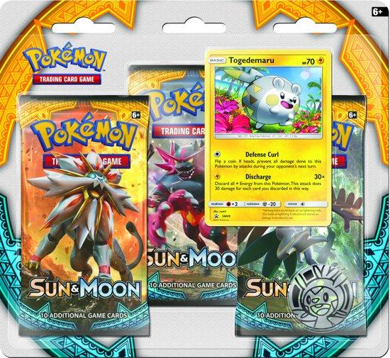 Afbeelding van het spel Pokemon TCG Sun & Moon 3-pack booster blister