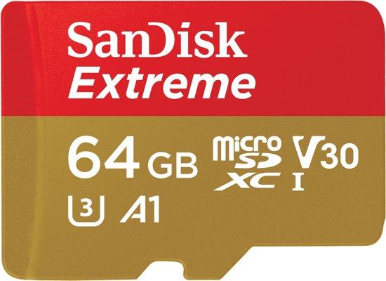 SanDisk microSD Extreme geheugenkaart 64GB