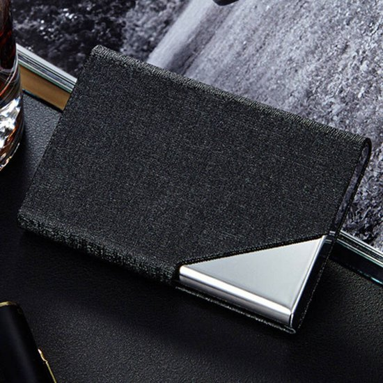KELERINO. Luxe Business Card Holder - Visitiekaarthouder - Aluminium - Zwart