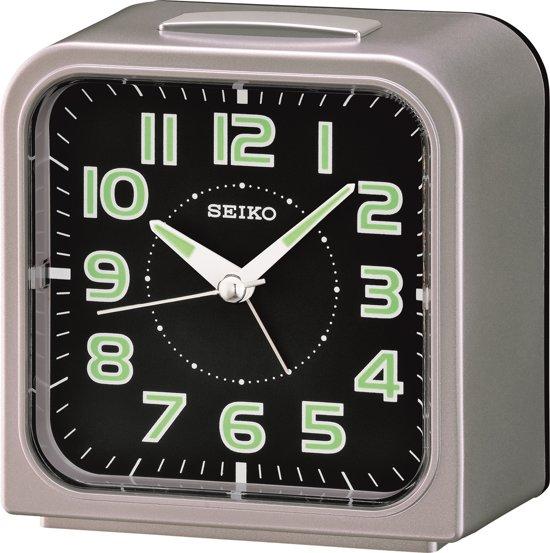 Seiko wekker - QHK025S - elektronische bel - 10x10cm - Grijs