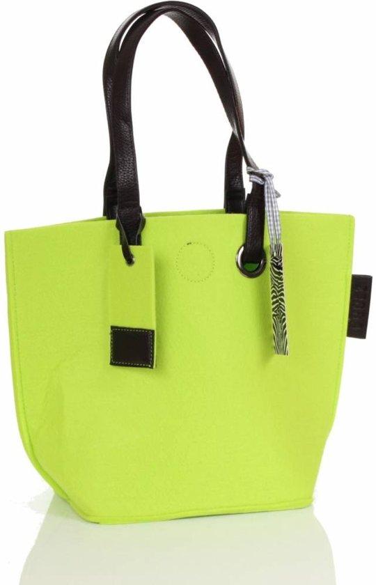 337e7894636 bol.com | Zebra Trends Natural Bag Vilt Small - Lichtgroen